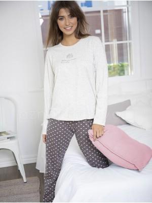 Pijama mujer ADMAS Your Dreams beige algodón