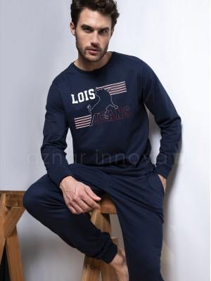 Pijama hombre LOIS Jeans Athletic azul algodón