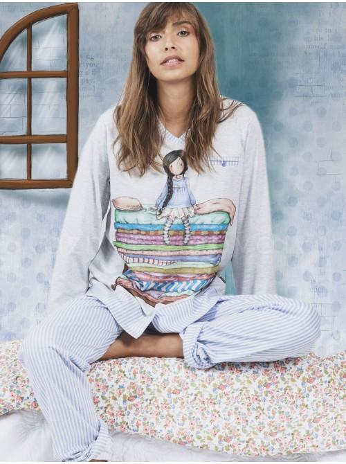 Pijama familiar mujer Santoro The Princess And The Pea algodón