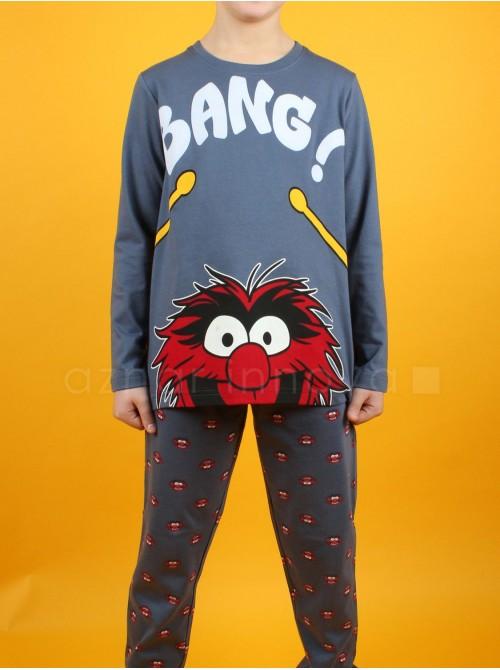 Pijama niño Disney Animal Bang azul algodón
