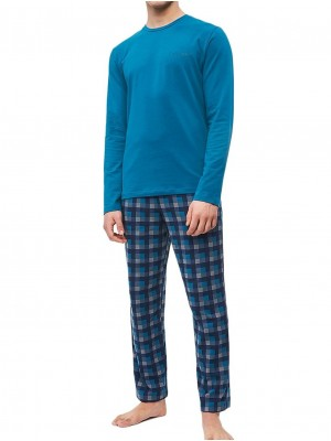 Pijama hombre CALVIN KLEIN bolsillos verde algodón