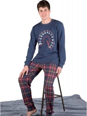 Pijama hombre PETTRUS cuadros punto perchado