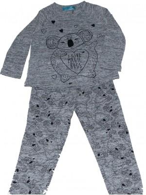 Pijama junior PETTRUS koala gris viscosa