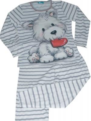 Pijama niña PETTRUS dog gris punto perchado
