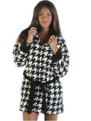 Bata térmica mujer PETTRUS blanca negra corel