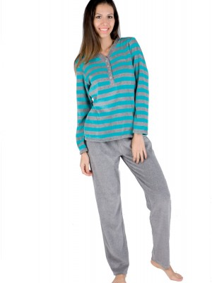 Pijama mujer PETTRUS turquesa terciopelo