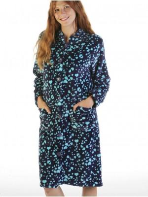 Bata térmica mujer PETTRUS botones corazones azul corel