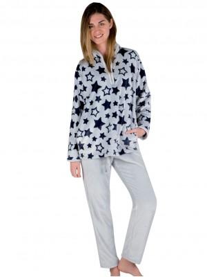 Pijama térmico mujer PETTRUS estrellas gris corel