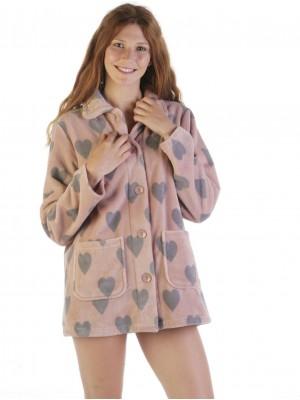 Bata corta térmica mujer PETTRUS corazones rosa corel