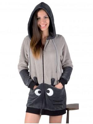 Bata corta térmica mujer PETTRUS capucha desmontable corel