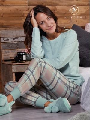 Pijama mujer MUYDEMI cuadros franela