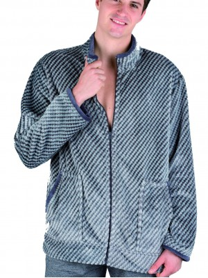 Bata corta térmica hombre PETTRUS gris y azul corel