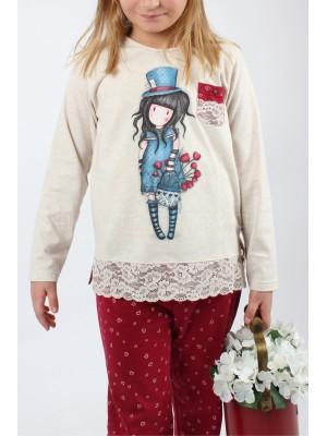 Pijama niña Santoro The hatter regalo caja sombrerera