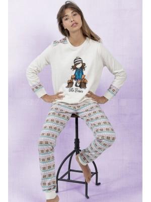 Pijama mujer Santoro The foxes felpa