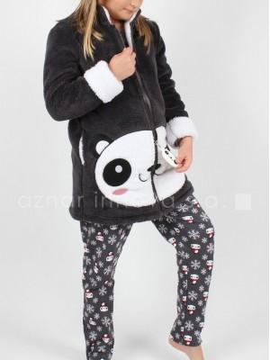 Bata corta térmica niña Admas oso panda corel
