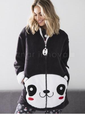 Bata corta térmica mujer Admas oso panda corel