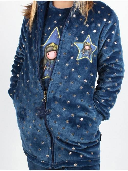 Bata térmica niña Santoro Just because azul estrellas corel