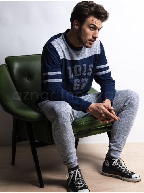 Pijama hombre LOIS Indoor azul algodón