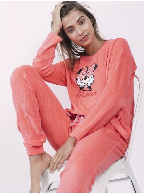 Pijama mujer Disney Minnie topos coral velour