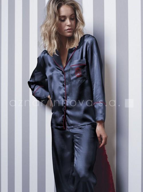 Pijama mujer Admas Christmas azul raso