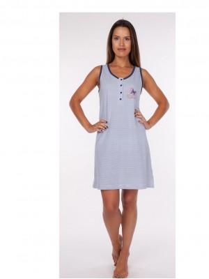 Camisón mujer Rachas blanco azul tapeta