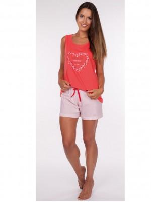 Pijama mujer verano Rachas punto coral