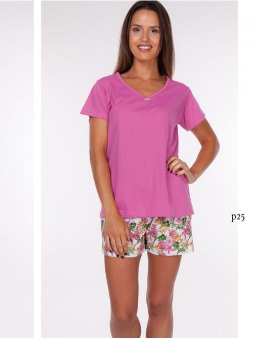 Pijama mujer verano Rachas punto algodón