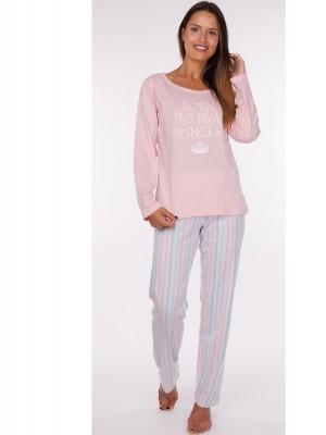 Pijama largo mujer primavera Rachas punto rosa