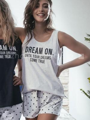 Pijama corto mujer Admas Dream algodón gris