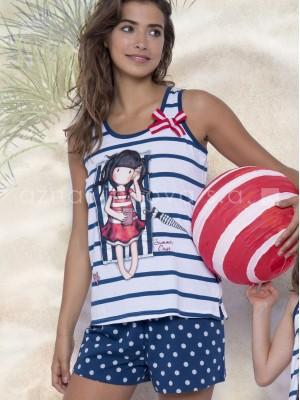 Pijama verano mujer Santoro Summer Days caja metal