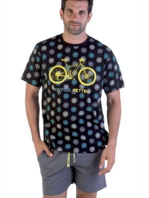 Pijama corto hombre Pettrus Bicycle algodón