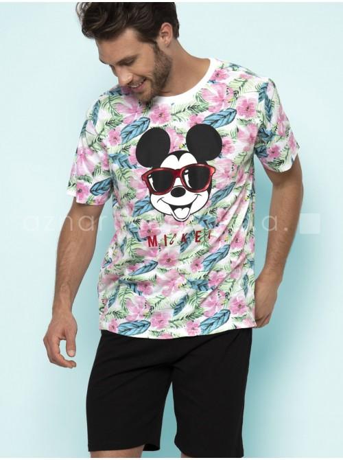 Pijama corto hombre Disney Mickey estampado algodón