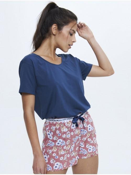 Pijama verano mujer J&J Brothers combinado Viscosa Algodón