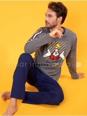 Pijama invierno hombre Disney Goofy algodón