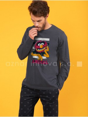 Pijama invierno hombre Disney Animal Bars algodón