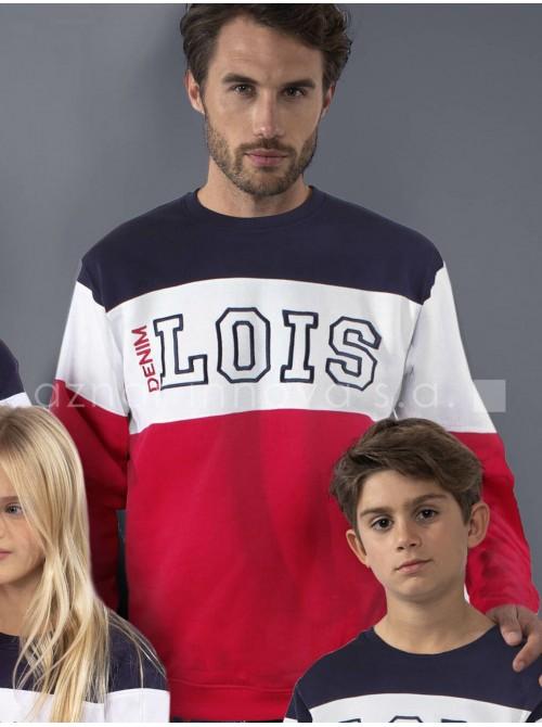 Pijama hombre Lois colección familiar rojo sport algodón