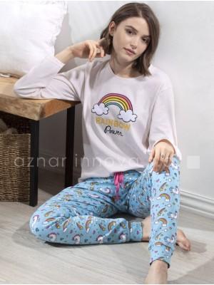 Pijama largo mujer Admas Rainbow vigoré