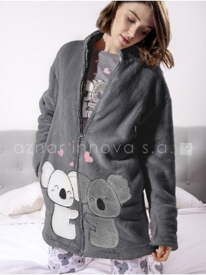 Bata corta térmica mujer Admas koalas gris oscuro corel