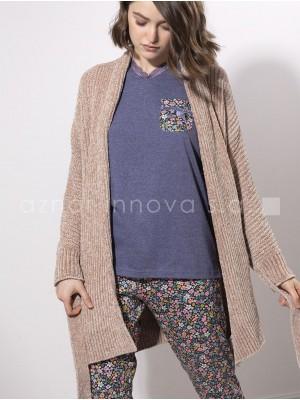 Bata chaqueta mujer Admas chenilla camel