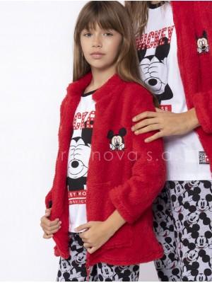 Bata corta térmica niña Disney Mickey Mouse Colección familiar rojo corel