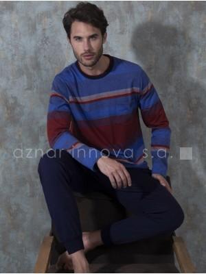 Pijama hombre Antonio Miró rayas algodón bolsillos
