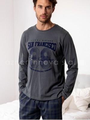 Pijama hombre Admas San Francisco algodón bolsillos