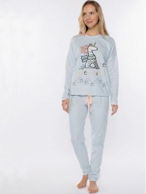 Pijama invierno mujer Muydemi unicornio polar