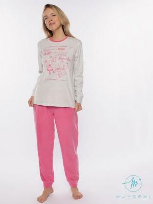 Pijama invierno mujer Muydemi familia micropolar
