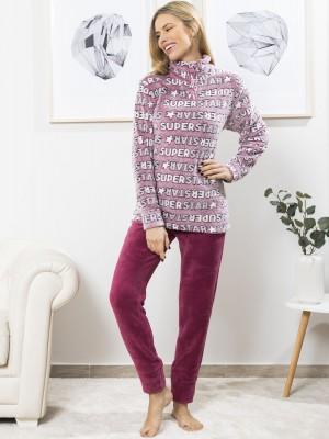 Pijama térmico mujer BH fucsia coralina