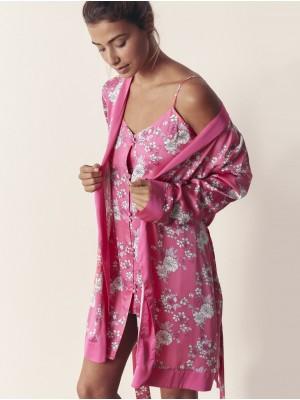 Camisola Verano Mujer ADMAS Pink Flowers Fucsia .