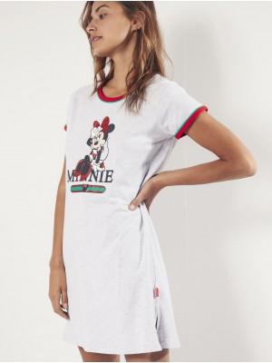 Camisola Verano Mujer DISNEY Minnie Cool Gris Jaspe Algodón.
