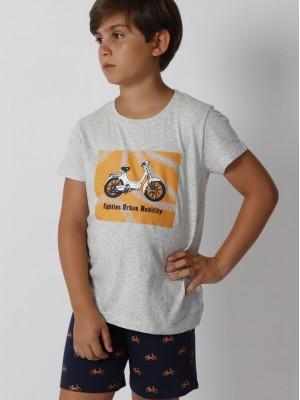 Pijama Verano niño ADMAS Mobility Azul Algodón