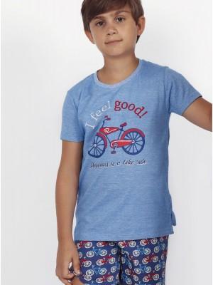 Pijama Verano Familiar Niño ADMAS Feel Good Azul Algodón