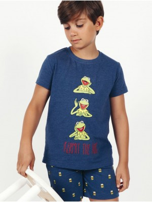 Pijama Verano niño DISNEY Rana Gustavo Azul Algodón